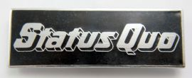 Status Quo - 'Logo Black' Enamel Badge